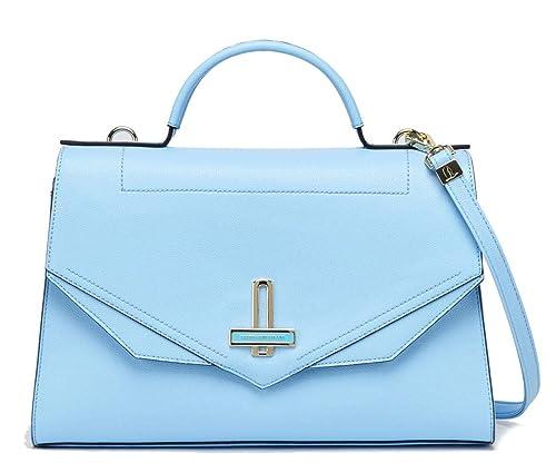 1348d180ed Trussardi Jeans Borsa Donna Myrtle ecoleather Satchel Bag Azzurro ...
