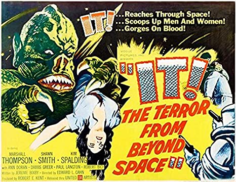 "/""IT/"" TERROR FROM BEYOND SPACE MOVIE POSTER 12/"" X 18/"" VINTAGE"