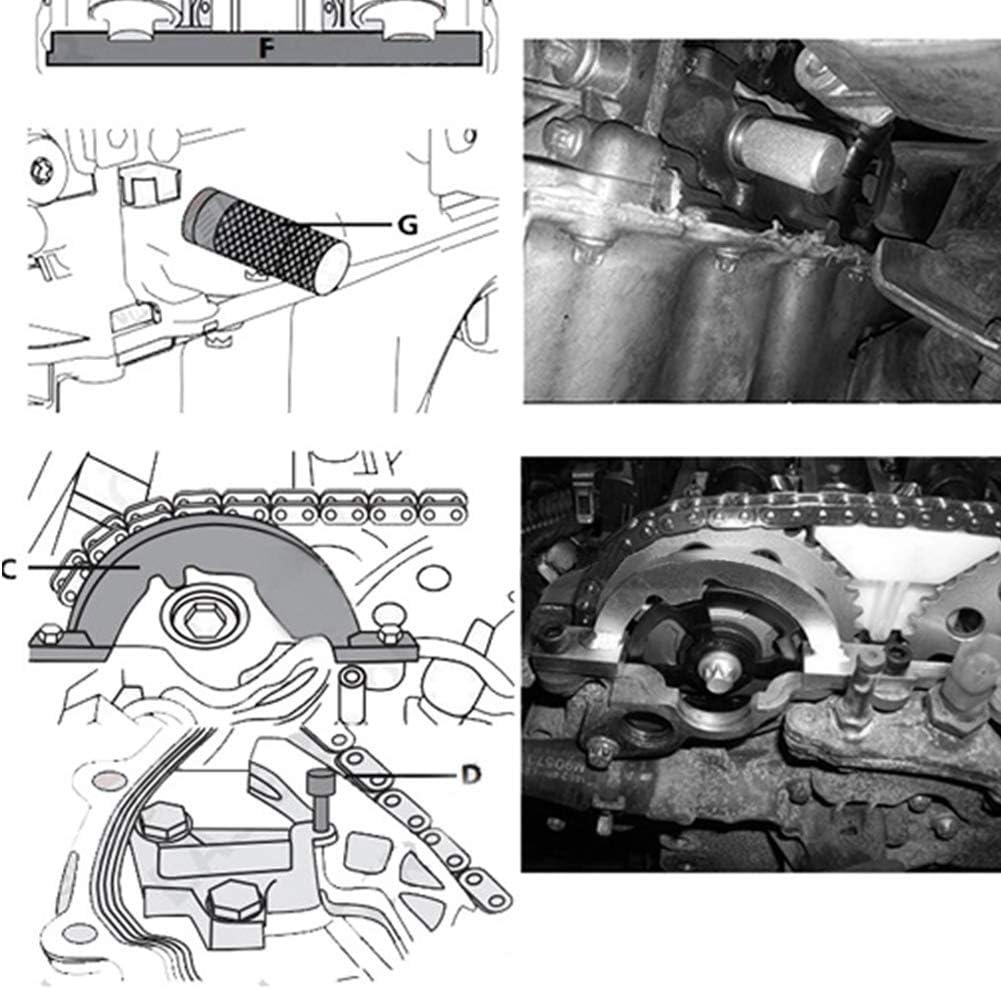 Kit di Strumenti di Messa in Fase del Motore 1.4T Allineamento Albero a camme Accessori per Riparazione Auto Ladieshow Strumento di Messa in Fase del Motore