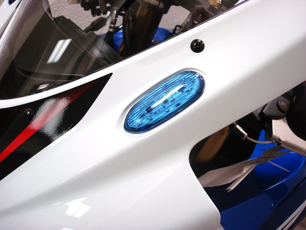 Hotbodies Racing S06GS-SIG-RED LED Blinker//Mirror Block-Off with Red Lens