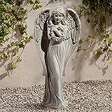 """John Timberland Standing Angel 25"""" High Faux Sandstone Indoor-Outdoor Statue"""