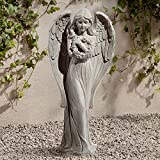 John Timberland Standing Angel 25'' High Faux Sandstone Indoor-Outdoor Statue
