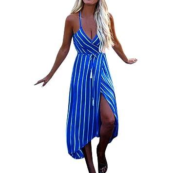 Wawer Vestido de Playa de Verano para Mujer, Vestido de Noche, Estilo Bohemio,