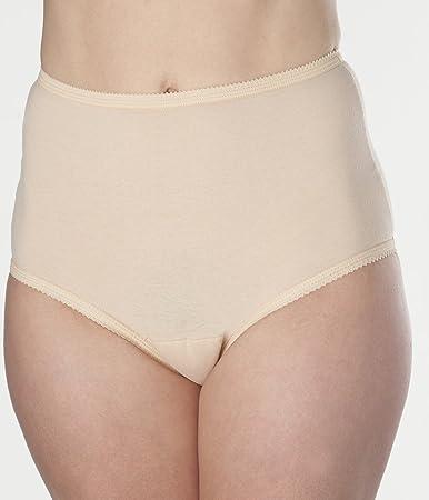 Women's Beige Cotton Comfort Incontinence Panties 2XL (Single)