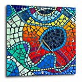 Lee Hiller Designs Mosaic Tiles – Multi Color Glass Mosaic Tile Sunrise Print II – 15×15 Wall Clock (dpp_32460_3) For Sale