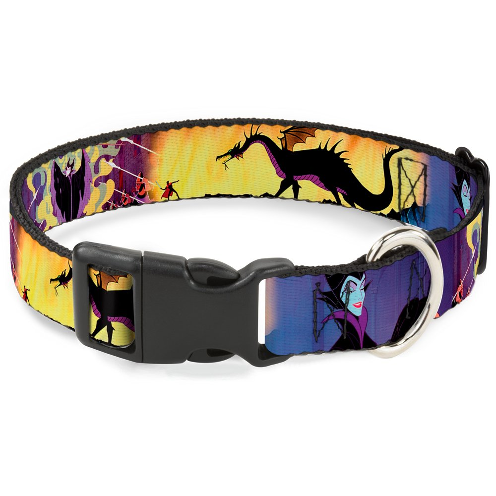 Buckle-Down Breakaway Cat Collar - Maleficent Poses - 1/2'' Wide - Fits 6-9'' Neck - Small