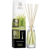 Lemongrass Diffuser w/Lemongrass Oil 3.4oz - Scented Reed Diffuser - 0% Alcohol - Diffuser Gift Set - Best for…