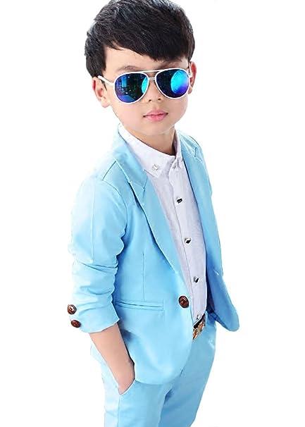 Vdual - Traje - para niño Azul Azul Etiqueta 9: Amazon.es ...