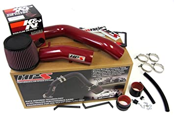 Acura TL TypeS L V HPS Red Cold Air Intake Kit KN - Acura tl type s cold air intake