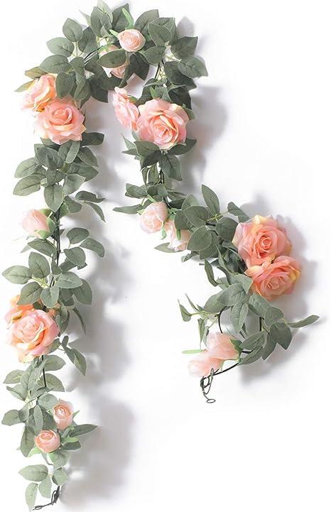 Paper Flower Book Page Rose Garland 4 feet