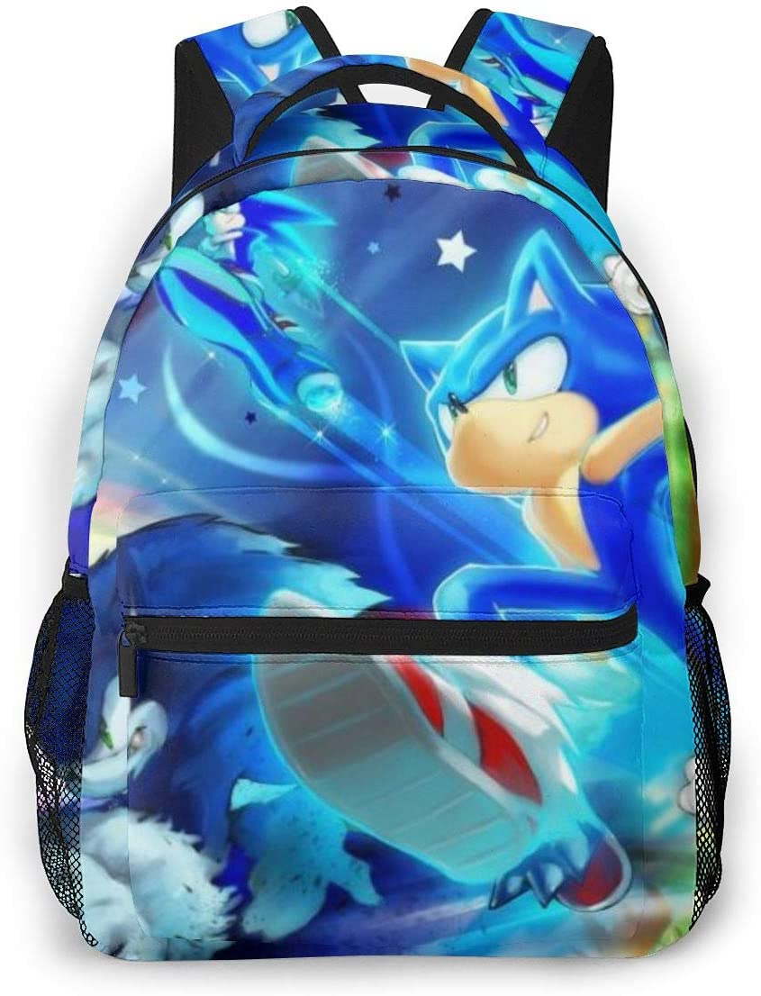 Son-Ic The Hedgehog Casual Lightweight Laptop Backpack Travel Daypack Student School Bag for Travel School Shoping Sporting