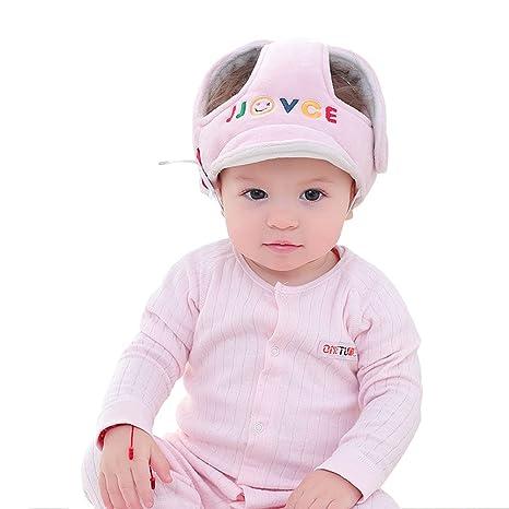 Kuuboo - Casco de seguridad ajustable para bebé, protección para la cabeza, sombrero de