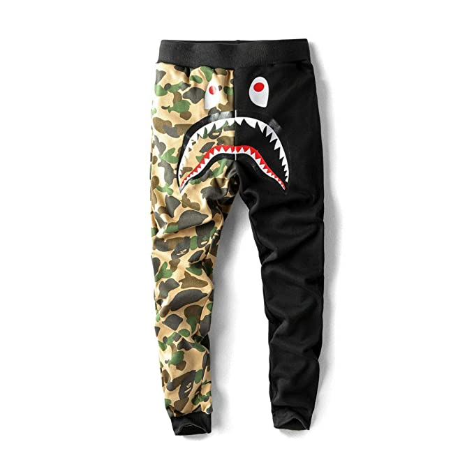 2019 best sell pretty cheap really cheap A Bathing APE Shark Head Pants BAPE Baggy Sweatpants Men's ...