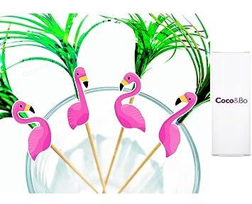 21PCS Flamingo Photo Booth Props Tropical Hawaiian Summer Party Night Games