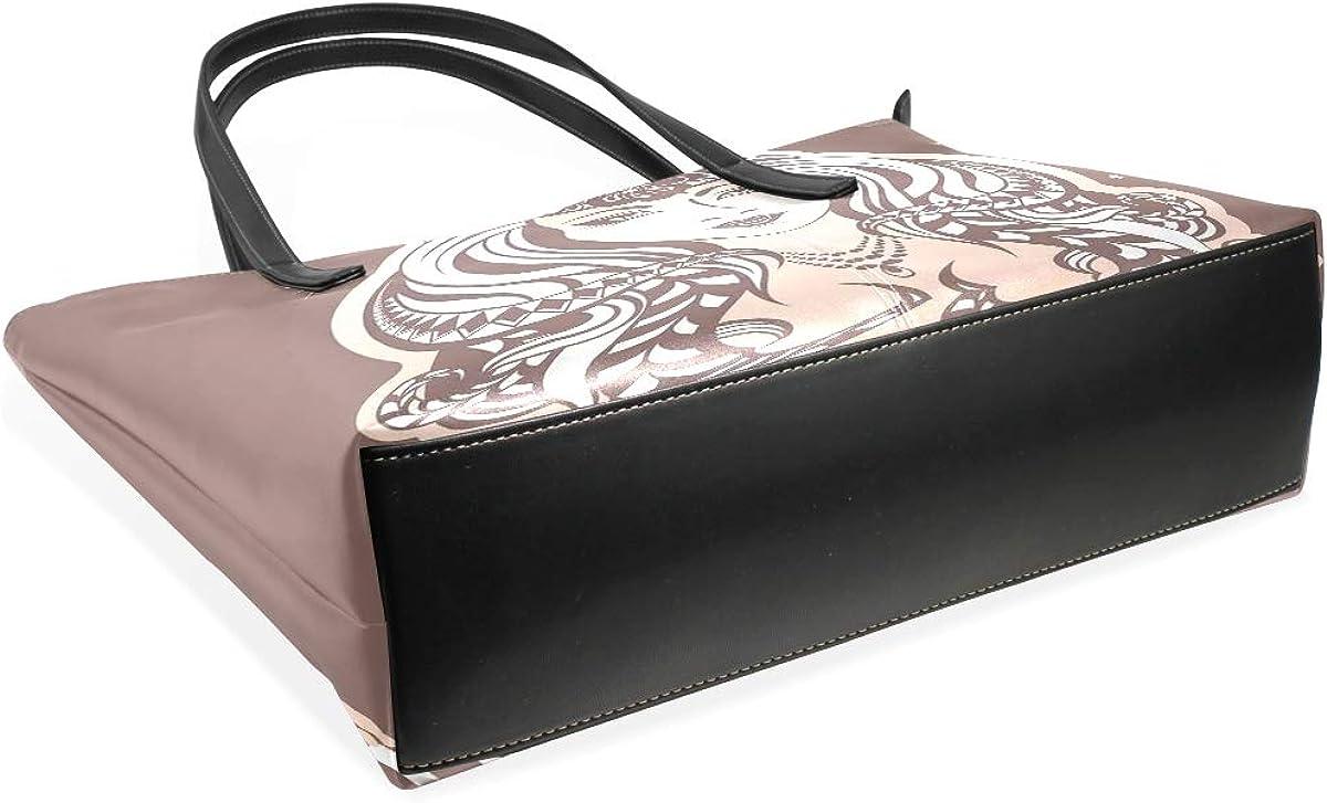 NR Mode multicolore Fine bag Sac fourre-tout Sacs à main femme Sacs bandoulière femme,Arbre magique mystique Color-16