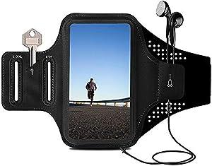ORIbox running armband, armband for cell phone running, Lightweight, Multifunctional portability, Fit for iPhone,iPhone 12 Pro max/12Pro/12/12 mini/11 Pro max/11,for Samsung Galaxy (Black)