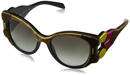 Prada 0PR10US SRJ0A7, Gafas de Sol para Mujer, Amarillo (Brown/Yellow/Pink/Grey), 54