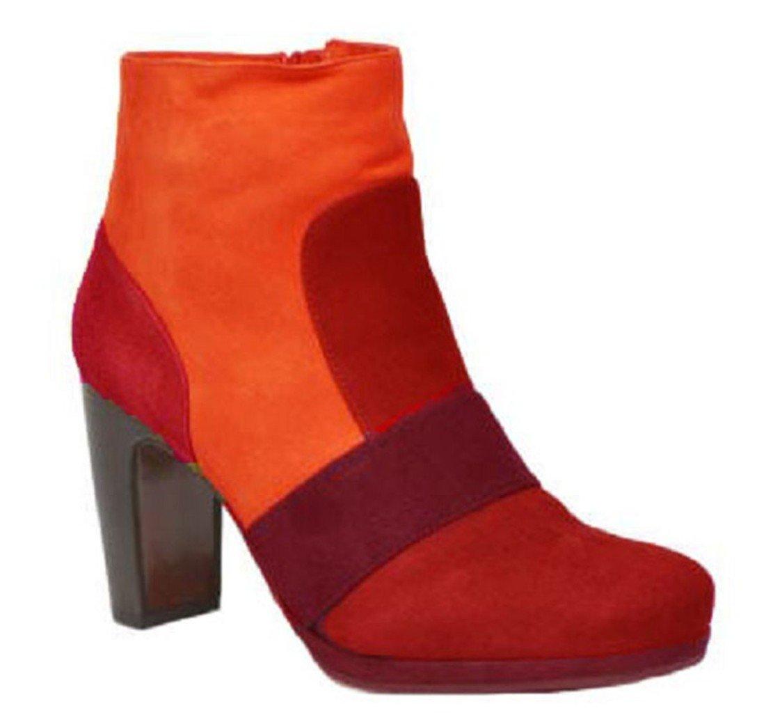 11sunshop - Botas de Piel para mujer marrón marrón 4441|naranja