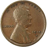 1915-D 1c Lincoln Wheat Cent Penny VF Very Fine