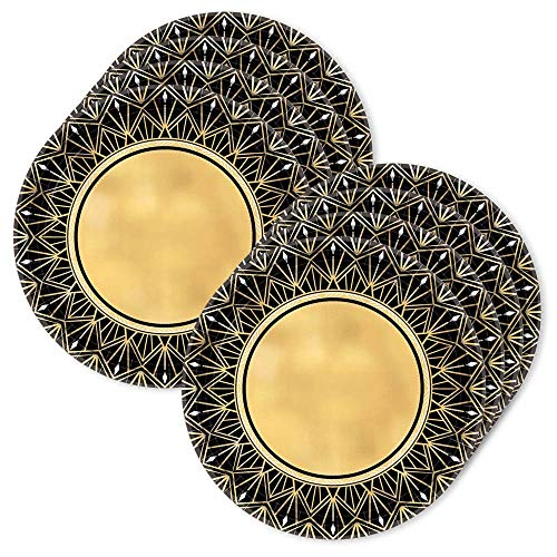 BirthdayExpress Glitz & Glam Metallic 10.5 Lunch Plates (24)