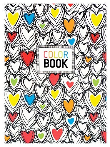 OOLY, Make Notes 5.75'' x 4'' Color Book, Hearts (163-005) by OOLY