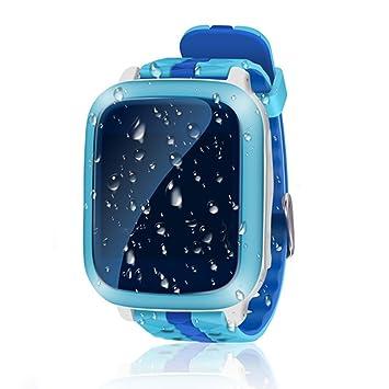 UxradG - Reloj inteligente para niños con GPS, resistente al agua, pantalla táctil,