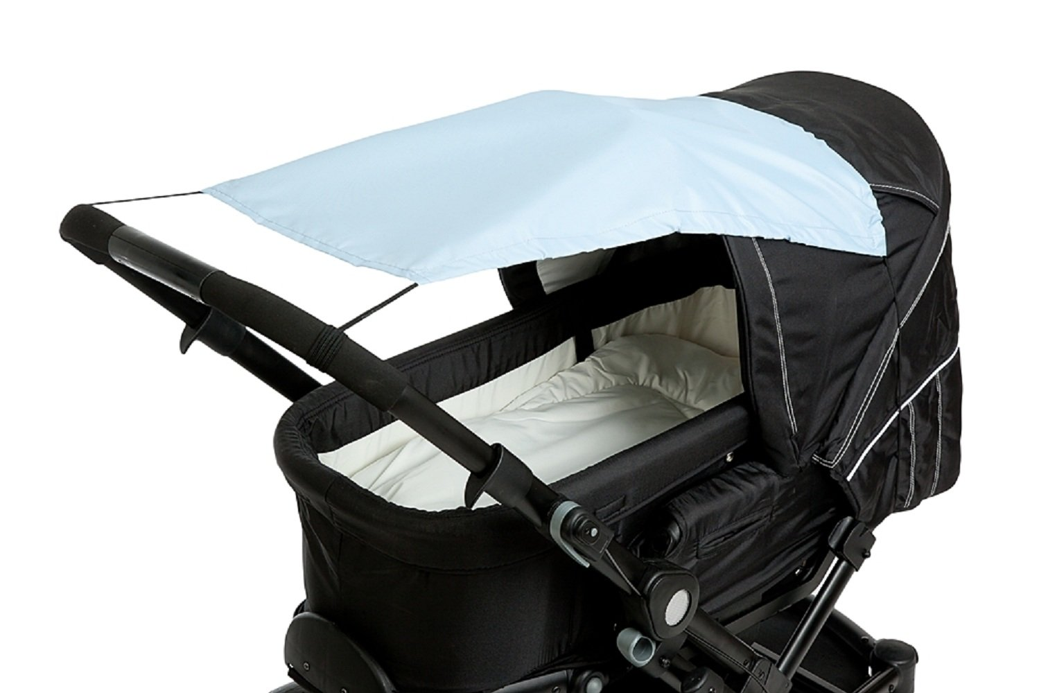 Altabebe Al71-13 Universal Sunshade For Pram And Stroller With Anti-Uv Protection 50 Plus Light Blue