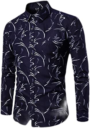 Joe Wenko Mens Lapel Button Front Long Sleeve Trendy Pocket Plaid Shirt