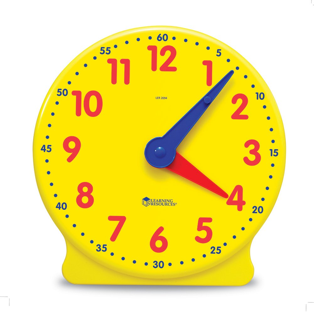 Worksheet Learning Clocks amazon com learning resources big time clock 12 hr office products