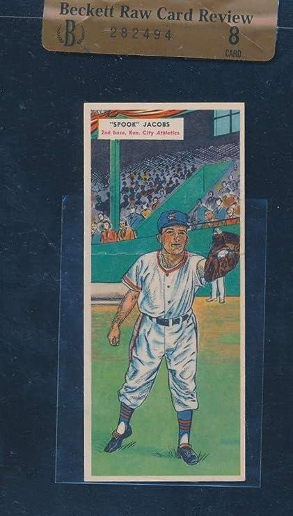 47 Spook Jacobsj Gray 1955 Topps Double Header Baseball