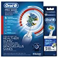 Oral-B Pro 5000 Electric Toothbrush Bundle with 3D White Replacement Head, 3 Count