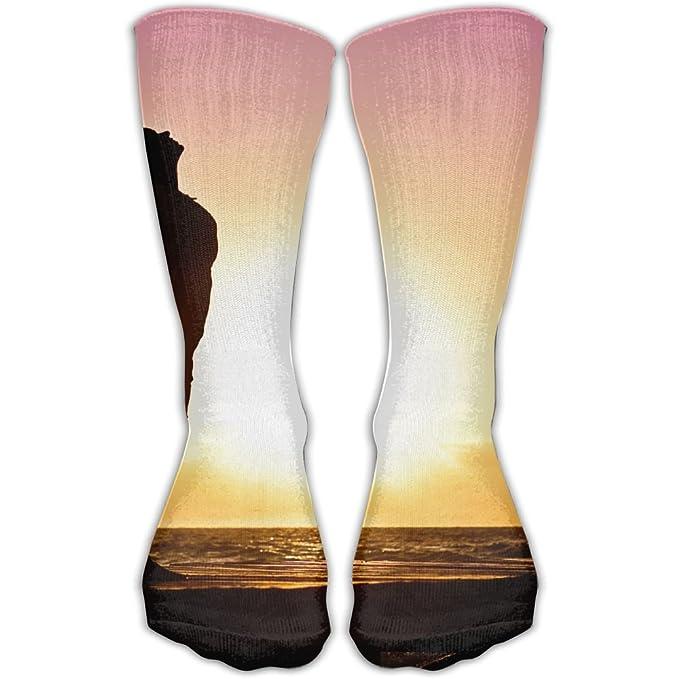 25d160c39700 Amazon.com  SESY Woman Happiness Sunrise Unisex Crew Socks Short Sports  Socks.  Clothing