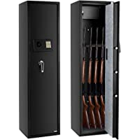 FCH Gun Safe Electronic 5-Gun Rifle Safe Large Firearm Safe Cabinet Quick Access Gun Storage Cabinet with Small Lock Box…