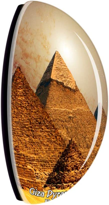 Weekino Egypte Pyramides de Gizeh Cheops Aimant de r/éfrig/érateur 3D Verre Cristal Touristique Ville Voyage Souvenir Autocollant de r/éfrig/érateur Collection