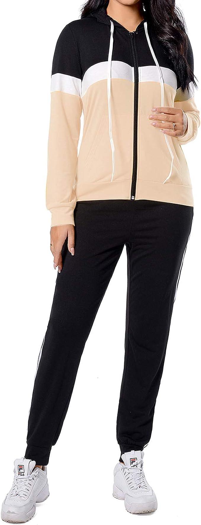 2Pcs Women Tracksuit Jacket Pants Sets Sport Wear Velvet Zipper Suit Gym*Outfits