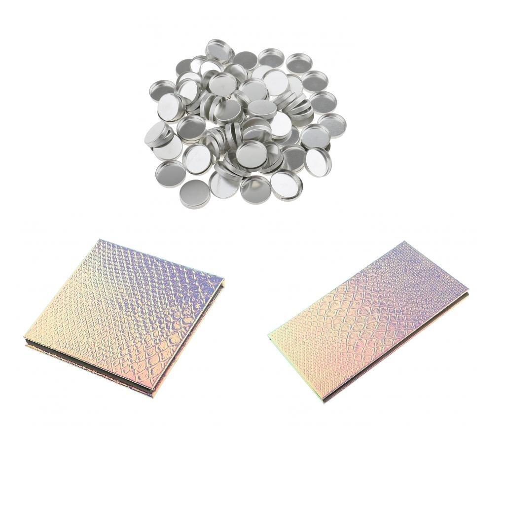 Sharplace Kit 2pcs Palettes de Maquillage Magnétique Vide à Stockage Ombre à Paupières/Blush + 100x Casserole Récipient à Poudre Cosmétique Compact