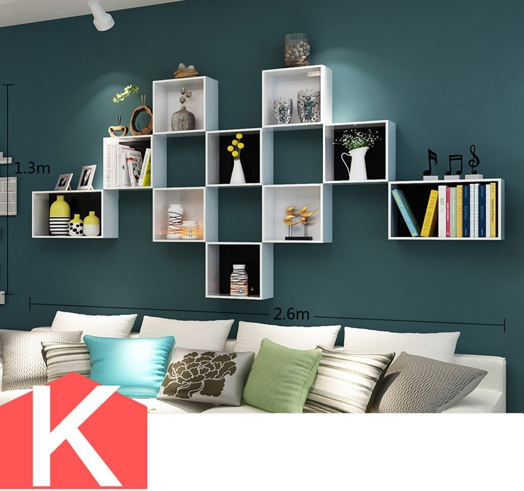ZWD ウォールシェルフ、クリエイティブラティスラックテレビの背景壁フレームセパレータウォールマウント小さな本棚棚壁装飾フレームベッドルームデブリラックディスプレイスタンド 整理する (サイズ さいず : K k) B07FZRZ3GJ  K k