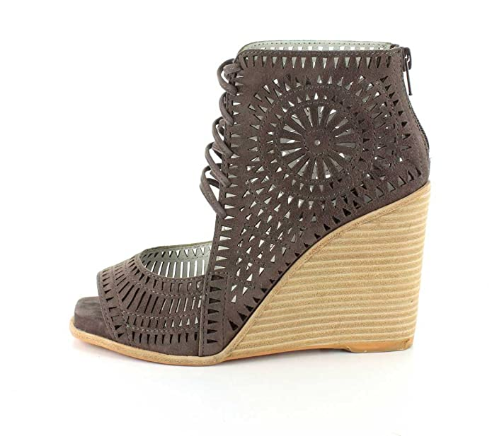 38d53e815da Jeffrey Campbell Womens Rayos-Hi Taupe Suede Wedge - 7.5  Amazon.ca  Shoes    Handbags