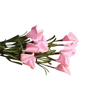 Unechte Blumen Ronamick Kunstliche Gefalschte Blumen Blatt Calla