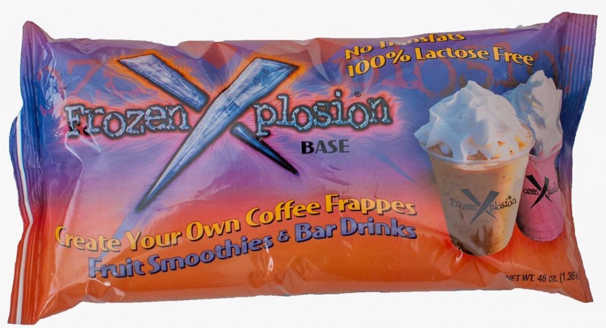 Frozen Xplosion Frappe Base & Smoothie Mix, Lactose & Gluten Free, 48-ounce Bag