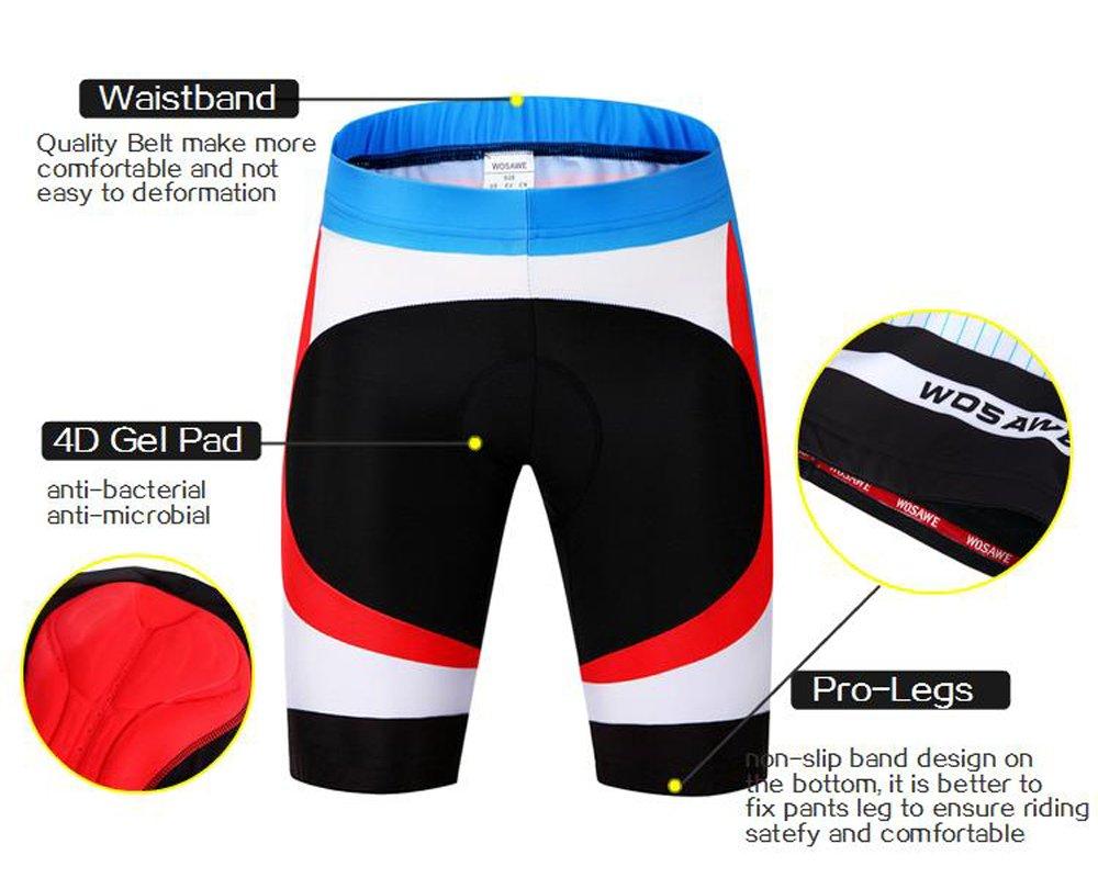 Cycling Bib Shorts Aogda Mens Women Bicycle 3D Gel Padded Short Pants
