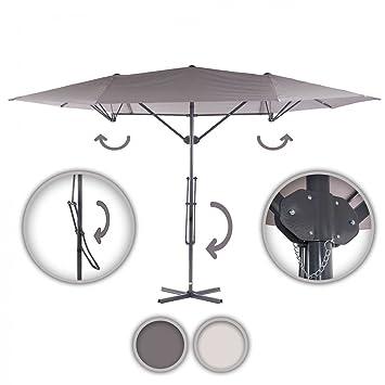 Amazon.de: Strattore Alu Sonnenschirm Ampelschirm Gartenschirm ...