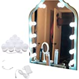 Hollywood Style LED Vanity Mirror Lights Kit with Connector,Touch Control 10 Dimmable Bulbs,Scalable Length 11.5 ft,Lighting