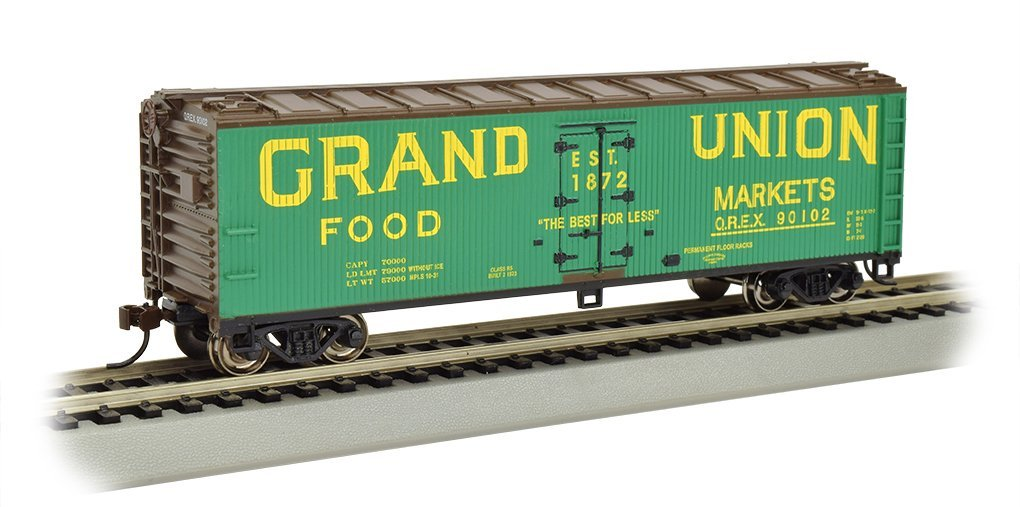 Bachmann Industries Wood Side Reefer Grand Union Freight Car, 40'