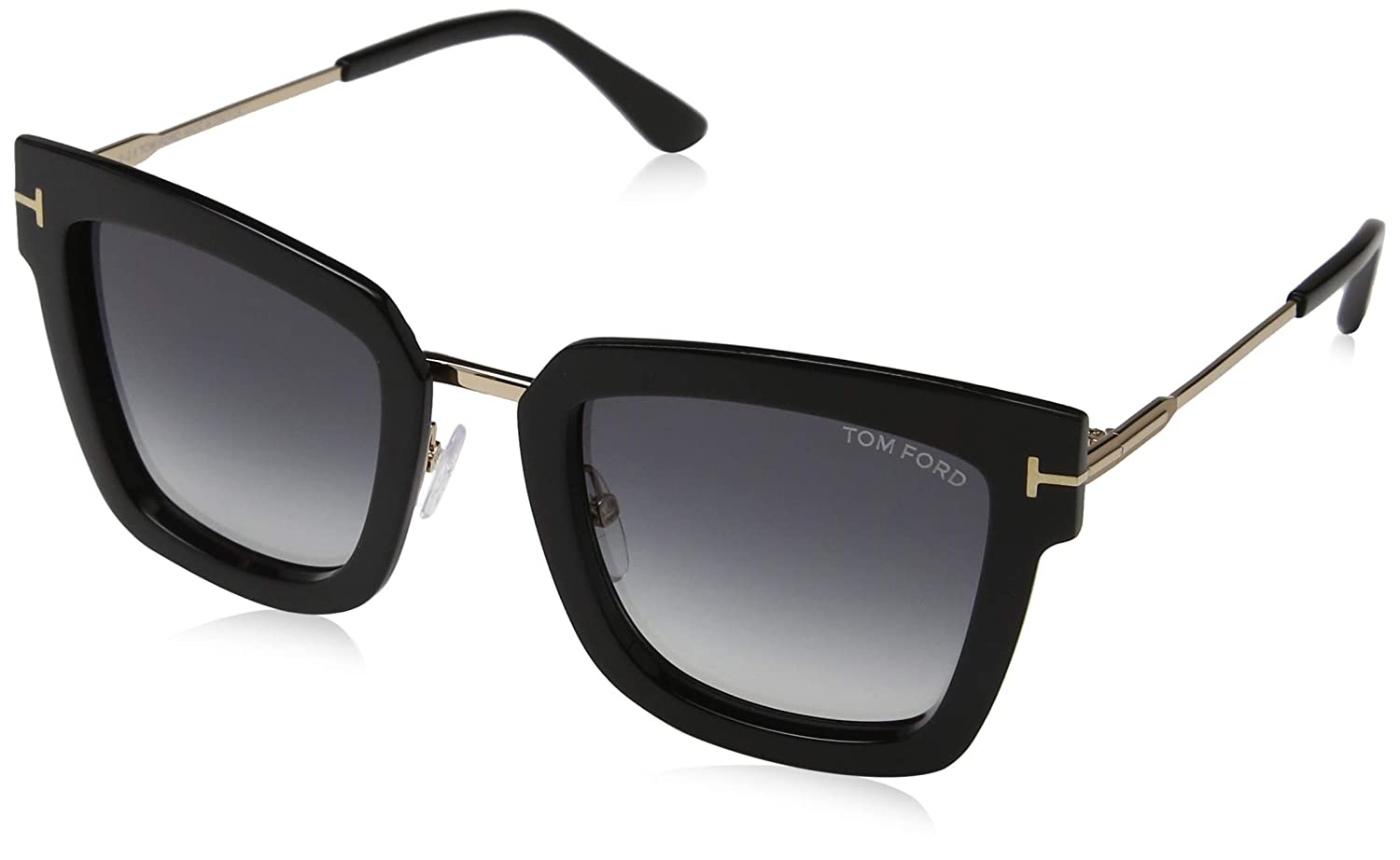 99201734a1 Sunglasses Tom Ford FT 0573 Lara- 02 01B shiny black   gradient smoke at  Amazon Men s Clothing store