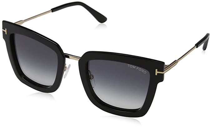 bd1946926c Image Unavailable. Image not available for. Color  Sunglasses Tom Ford FT  0573 Lara- 02 01B shiny black ...