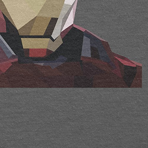 TEXLAB - Iron Polygon - Damen T-Shirt, Größe S, grau