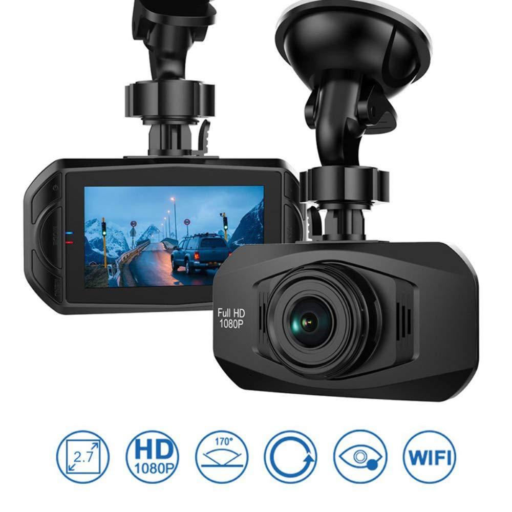 HUAGE Dash Cam 1080P HD Vidéo Voiture Enregistreur Tableau De Bord Caméra avec Vision Nocturne, À 4 Voies Grand Angle De Vue, G-Sensor, Boucle D'enregistrement, Détection De Mouvement, Parking Guard À 4 Voies Grand Angle De Vue