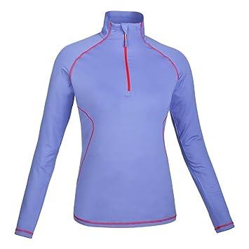 SALEWA Damen T-Shirt Cubic 2.0 PL W Long Sleeve Tee Purple Violet Storm/
