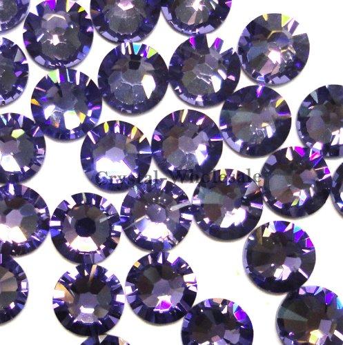 144 Swarovski 2028 / 2038 16ss HOTFIX crystal flatbacks ss16 TANZANITE A HF